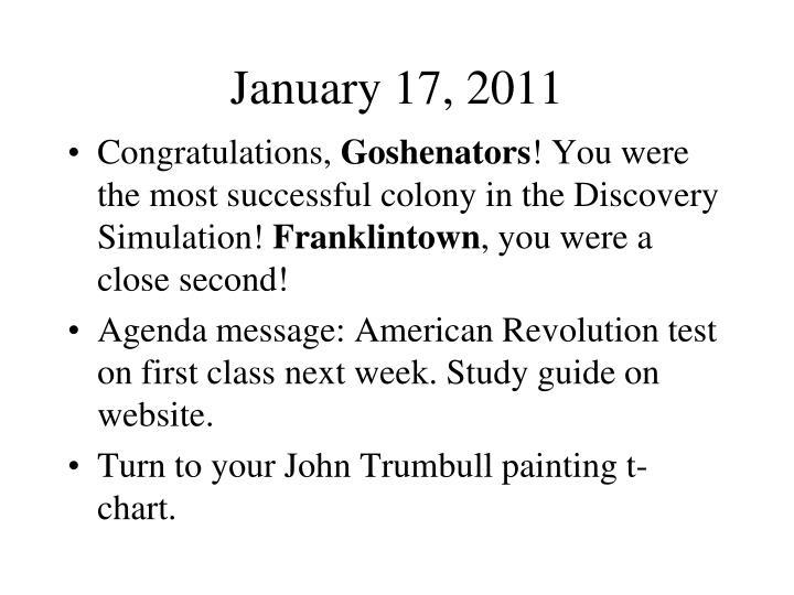 January 17, 2011