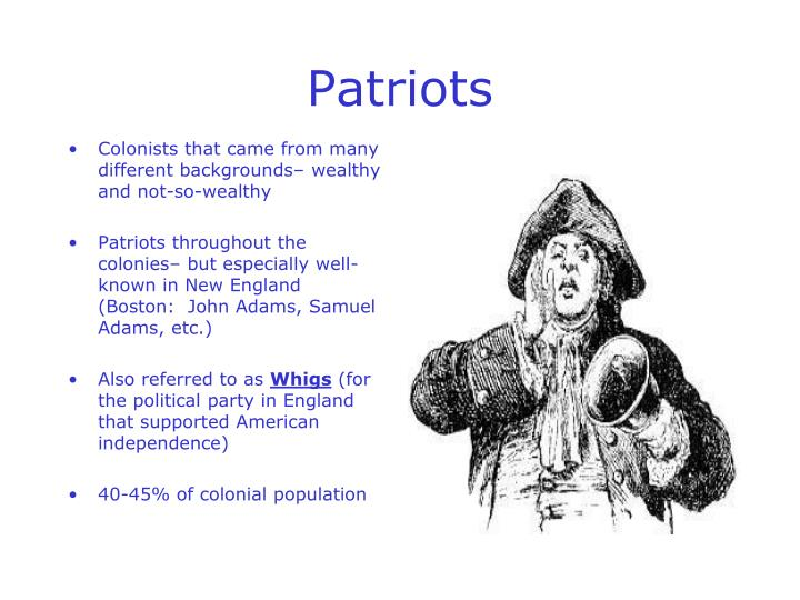 Colonists that came from many different backgrounds– wealthy and not-so-wealthy