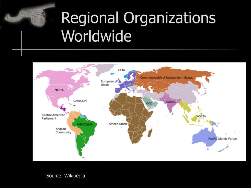 Regional Organizations Worldwide