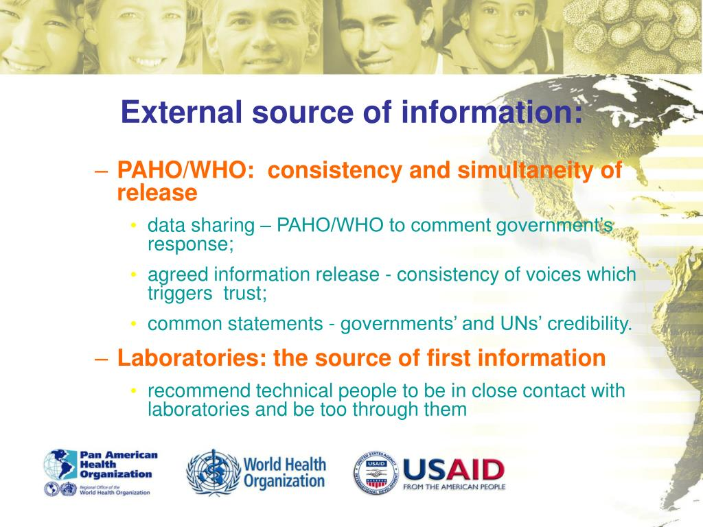 External source of information: