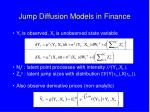 jump diffusion models in finance