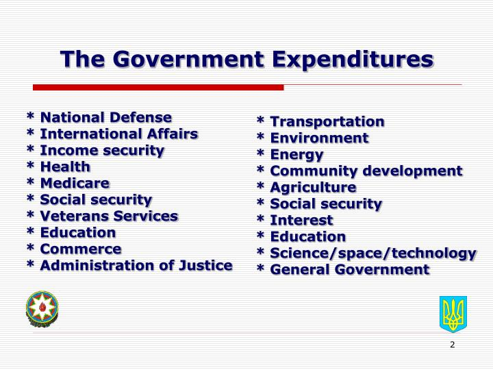 The government expenditures