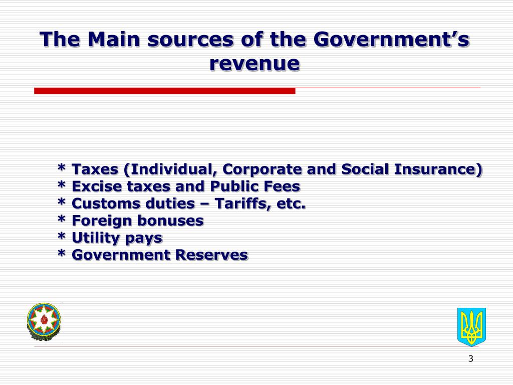 The Main sources of the Government's