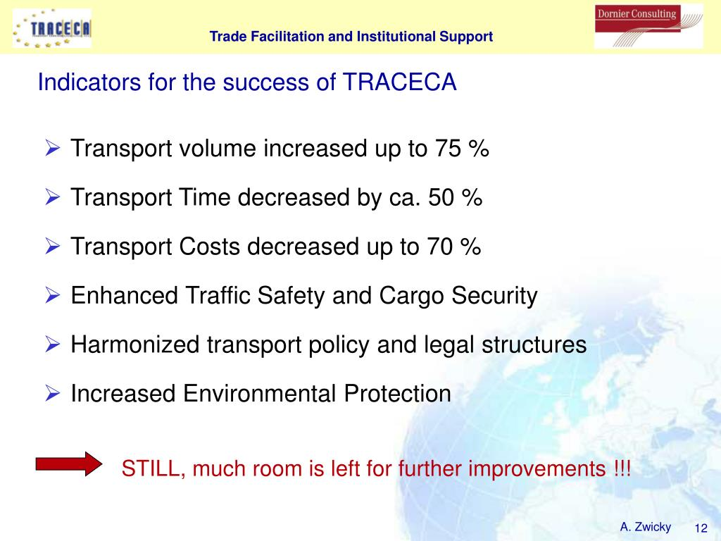 Indicators for the success of TRACECA