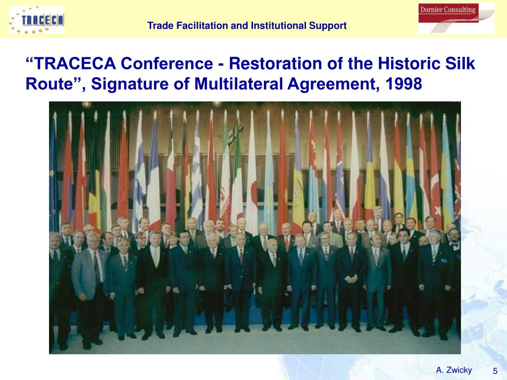 """TRACECA Conference - Restoration of the Historic Silk Route"", Signature of Multilateral Agreement, 1998"