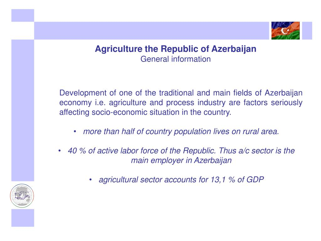Agriculture the Republic of Azerbaijan