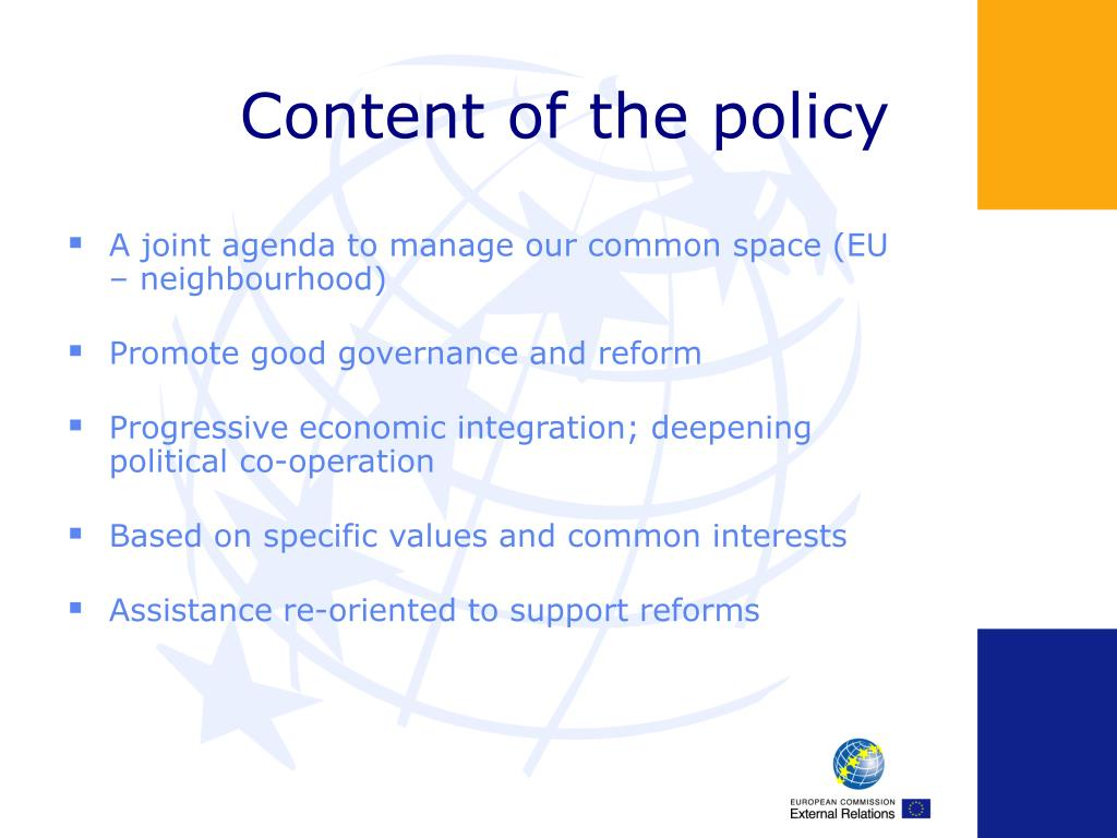 Content of the policy