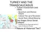 turkey and the transcaucasus