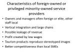characteristics of foreign owned or privileged minority owned service providers