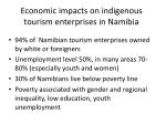 e conomic impacts on indigenous tourism enterprises in namibia