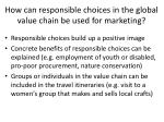 how can responsible choices in the global value chain be used for marketing1