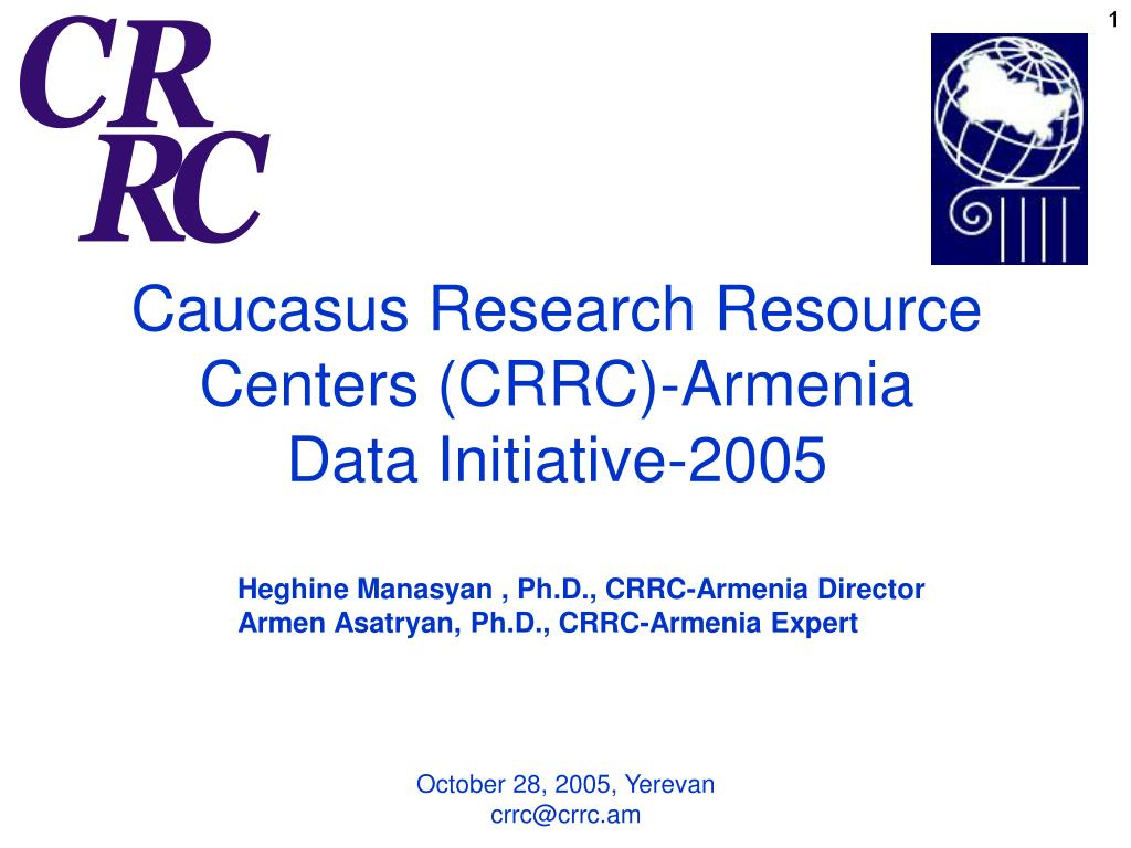 Caucasus Research Resource Centers (CRRC)