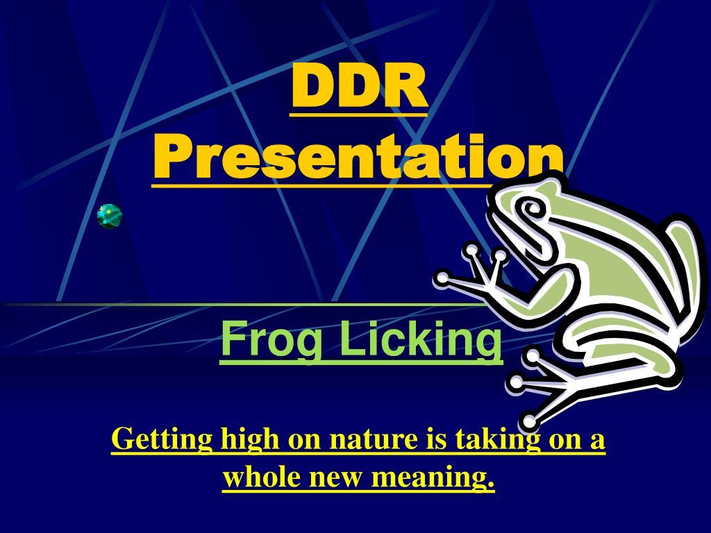 DDR Presentation
