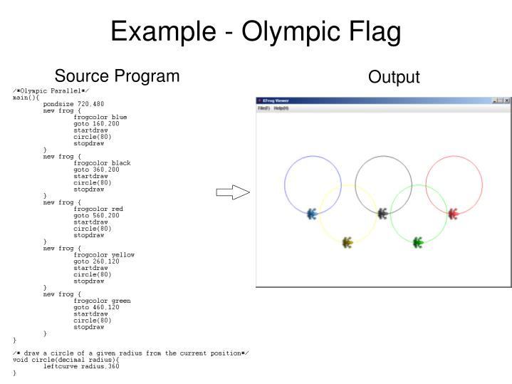 Example olympic flag