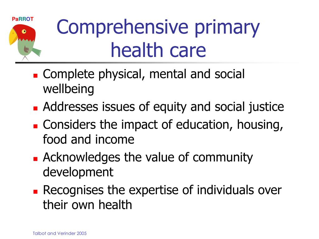 PPT - Comprehensive Primary Health Care PowerPoint ...