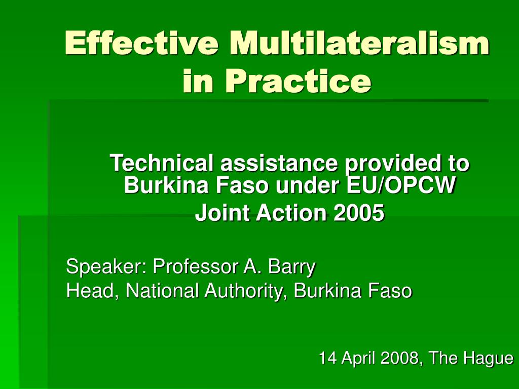 effective multilateralism in practice l.
