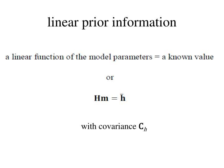 linear prior information