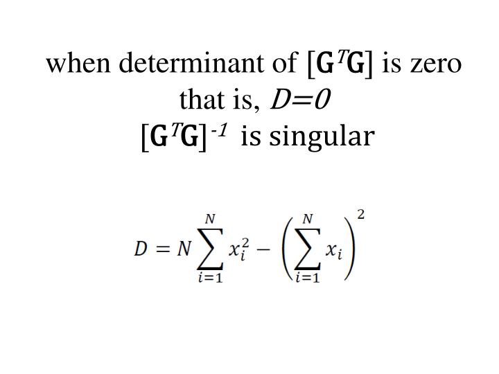 when determinant of