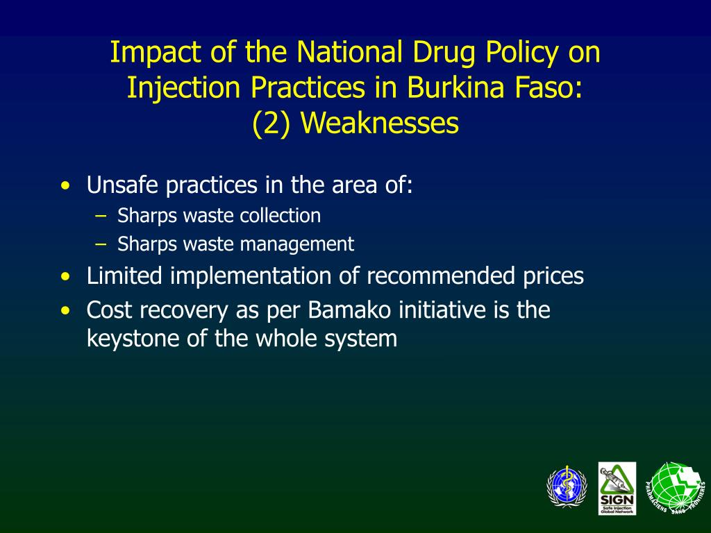 Impact of the National Drug Policy on Injection Practices in Burkina Faso: