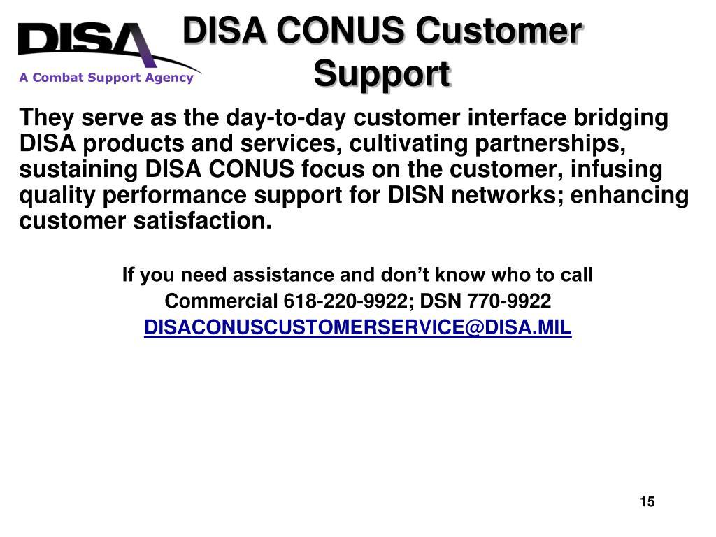 PPT - DISA CONUS PowerPoint Presentation - ID:1083922