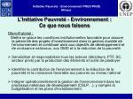 initiative pauvret environnement pnud pnue afrique2