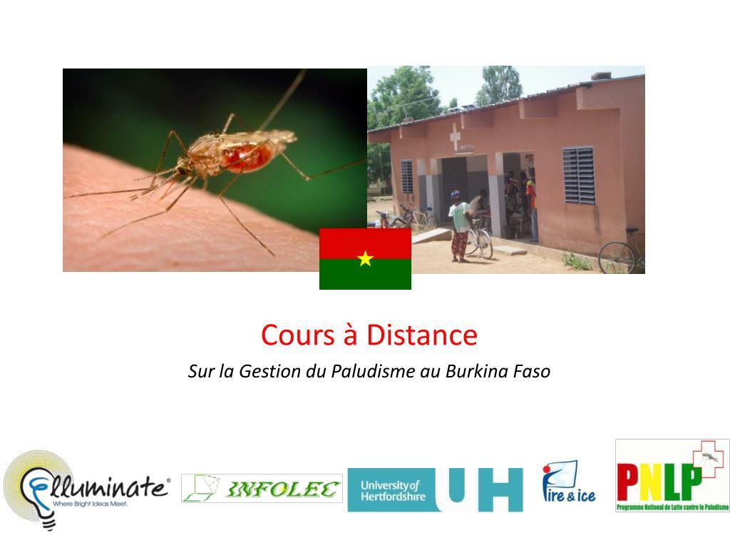 cours distance sur la gestion du paludisme au burkina faso l.