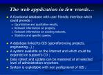 the web application in few words27