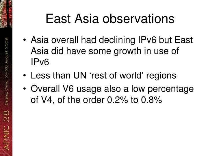East Asia observations