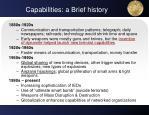 capabilities a brief history