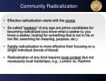 community radicalization
