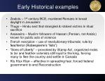early historical examples