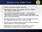 elements of the jihadist threat