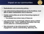 impact on our communities
