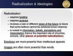 radicalization ideologies