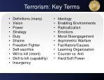 terrorism key terms