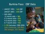 burkina faso ebf data