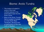 biome arctic tundra