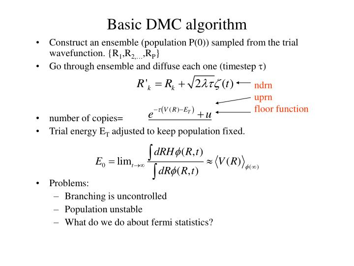 Basic DMC algorithm
