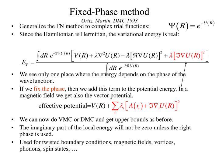 Fixed-Phase method