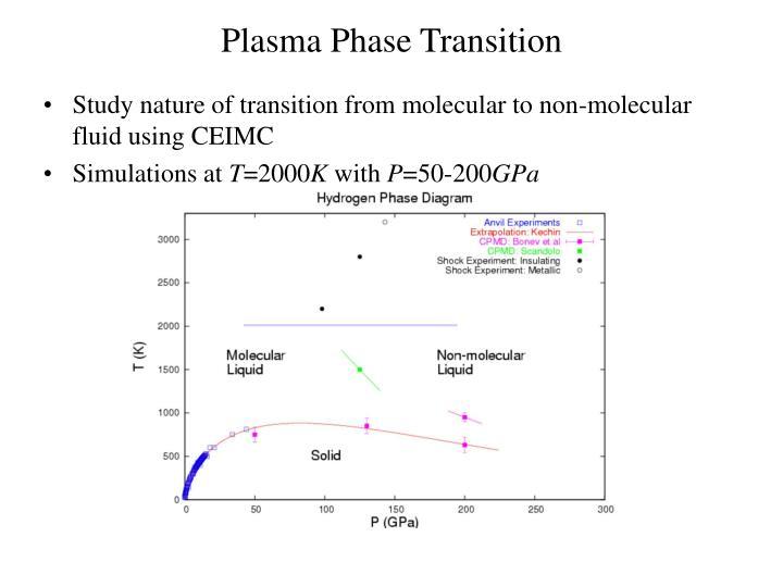 Plasma Phase Transition