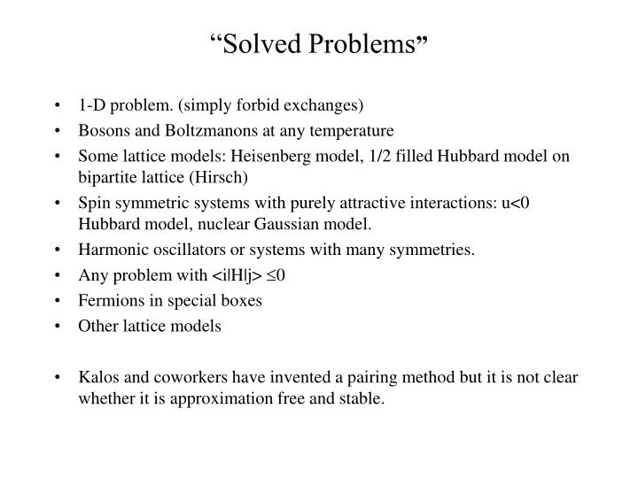 """""""Solved Problems"""