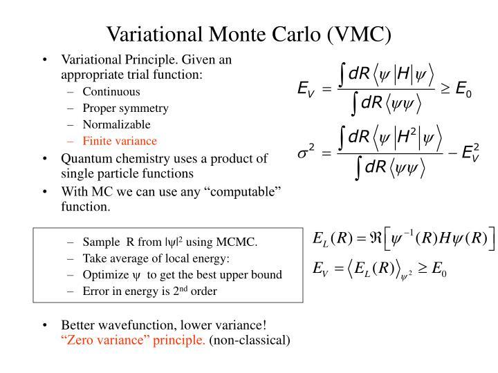Variational monte carlo vmc