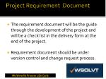 project requirement document