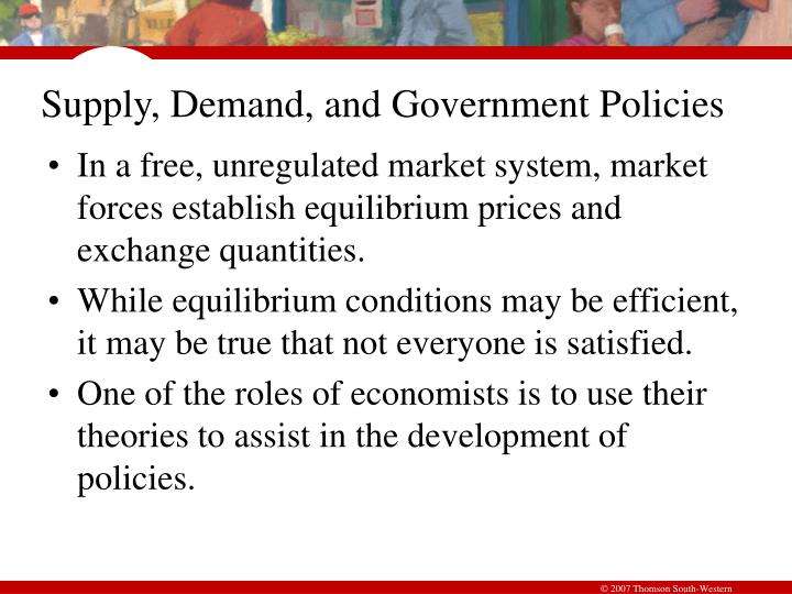 Supply demand and government policies