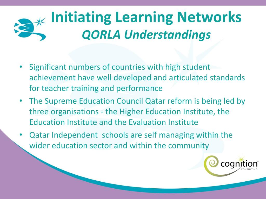 Initiating Learning Networks
