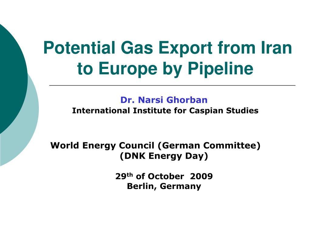 potential gas export from iran to europe by pipeline l.