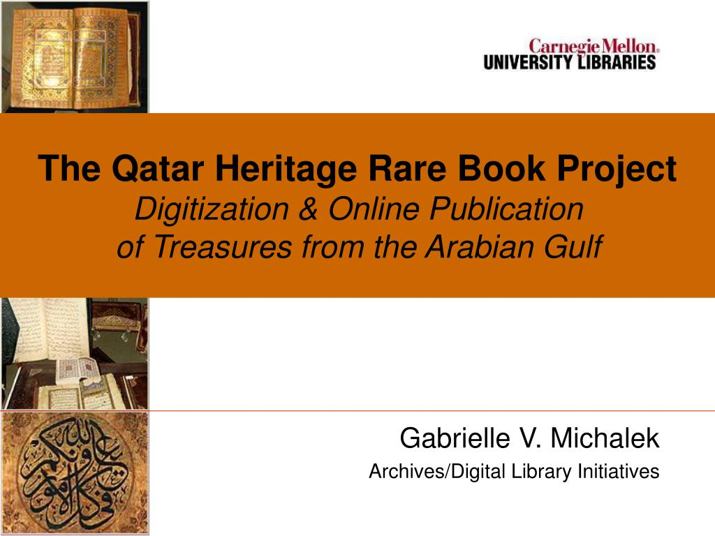 The Qatar Heritage Rare Book Project