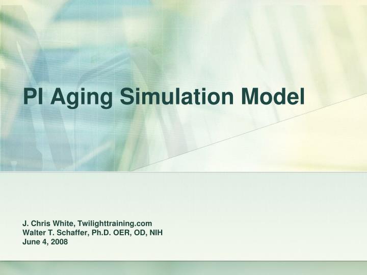 pi aging simulation model n.