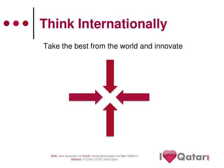 Think internationally3