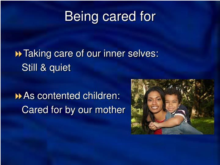 Taking care of our inner selves: